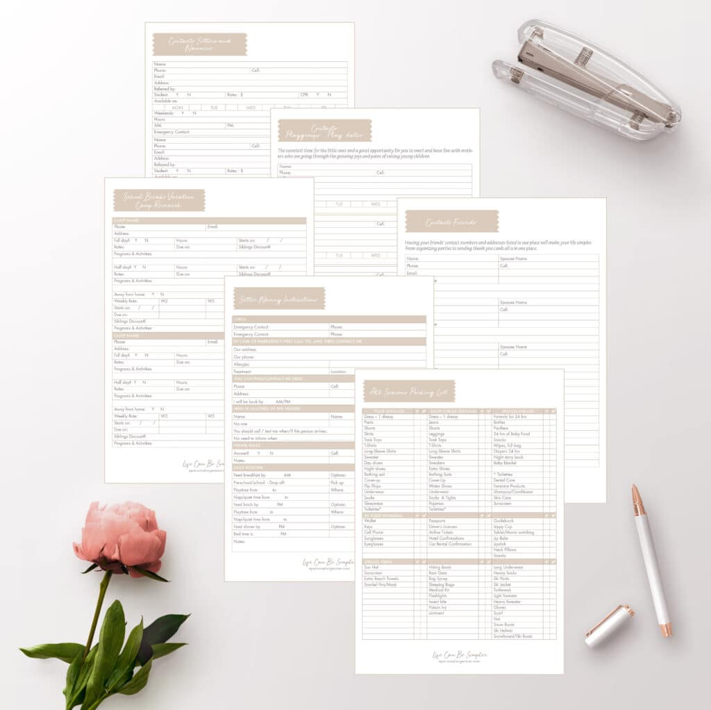 Home Binder Printables & Family Planner