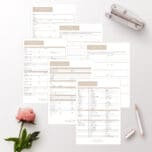 home binder printables