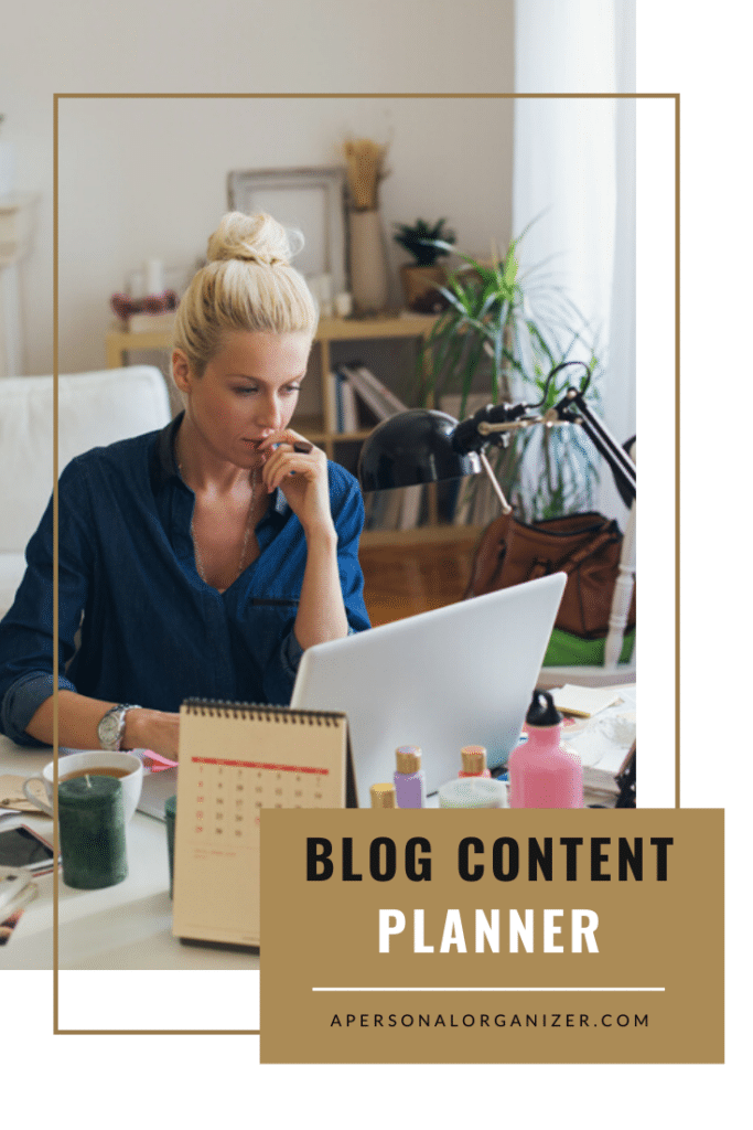 Blog Content Planner | Organized For Profits with Helena Alkhas