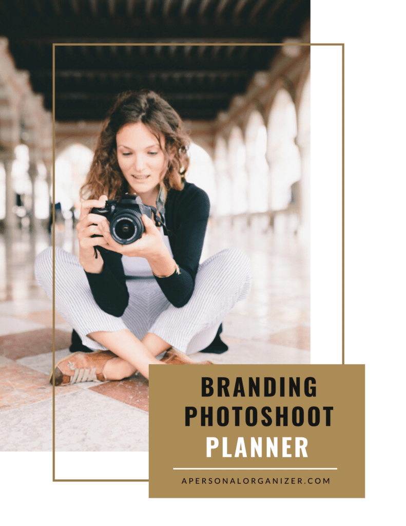 Branding Photoshoot Planner | Organized For Profits™ with Helena Alkhas.