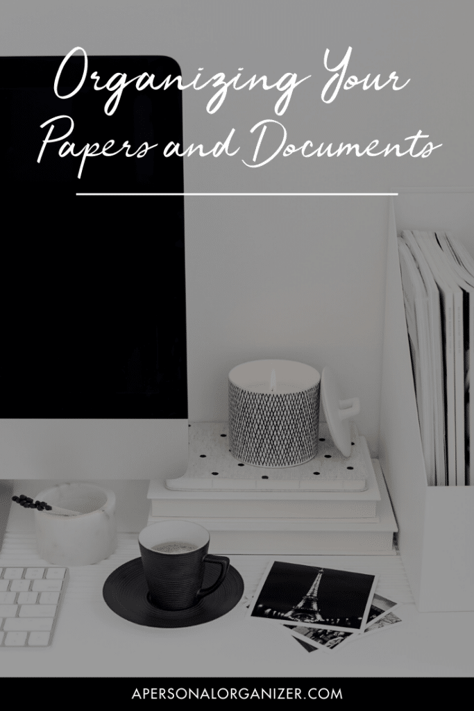 How to Organize Your Papers And Documents.